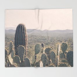 Arizona Cacti Throw Blanket