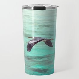 Maldivian Grey Heron Travel Mug
