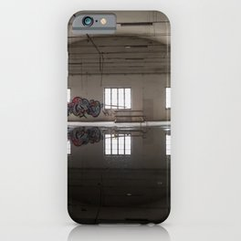 Interior of an abandoned factory iPhone Case