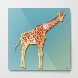 Giraffe - A Fantastic Journey Metal Print
