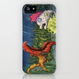 mutant and punk fish iPhone Case