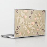 vintage flowers Laptop & iPad Skins featuring vintage flowers by Julia Tomova