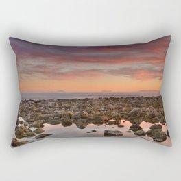Red sunset over Gibraltar Rectangular Pillow