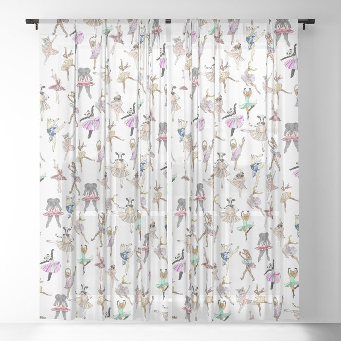 Animal Square Dance Sheer Curtain