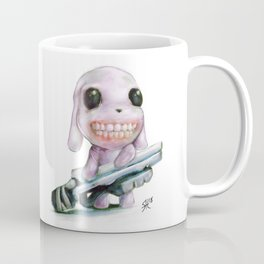 Little Dog..Big Gun | Illustration Painting Coffee Mug