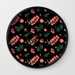 tropical botanical Wall Clock