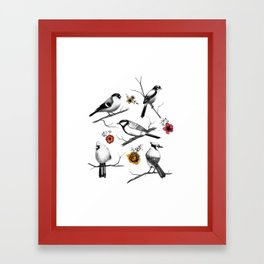 BIRDS & FLOWERS Framed Art Print