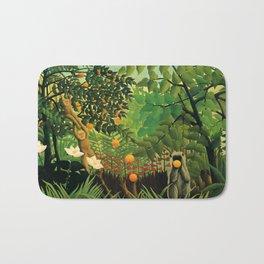 """Henri Rousseau """"Exotic landscape"""", 1910 Bath Mat"""