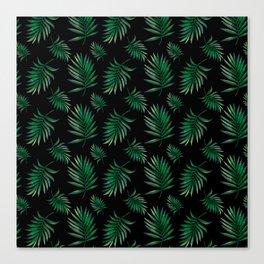 tropical palm leaves Canvas Print