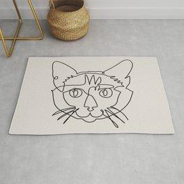 One line Siamese Cat Rug