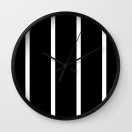 Black and white vertical stripes Wall Clock