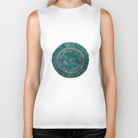 tree rings Biker Tanks featuring Annual Rings by Klara Acel