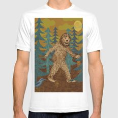 Bigfoot birthday card White MEDIUM Mens Fitted Tee