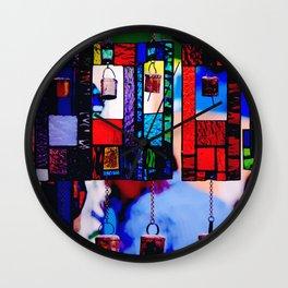 Glass Wind Chimes Wall Clock