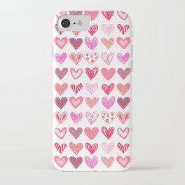 Many Hearts iPhone Case
