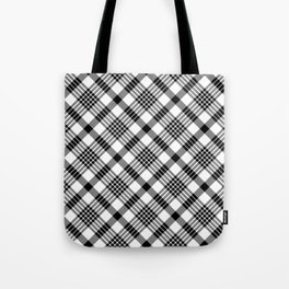 Black and White Plaid Pattern Tote Bag