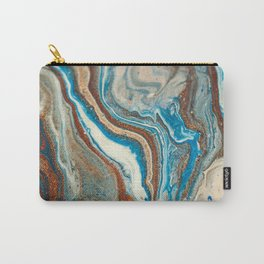 Copper and Teal Abstract Rock Formation Carry-All Pouch