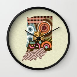Indiana State Map Wall Clock