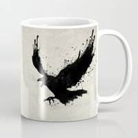 raven Mugs featuring Raven by Nicklas Gustafsson