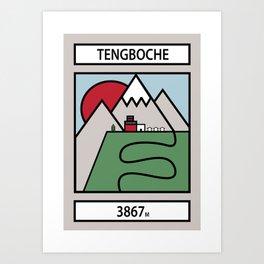 Tengboche Art Print