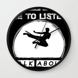 Taekwondo Kickboxing Martial Arts Krav Maga Wall Clock