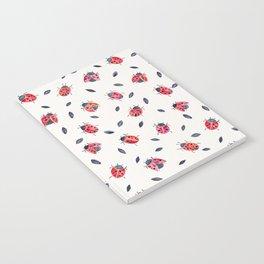 Lucky Ladybugs & Black Leaves Notebook