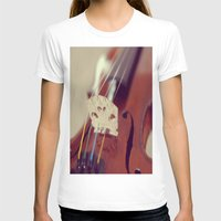 antique T-shirts featuring Antique Violin by KimberosePhotography