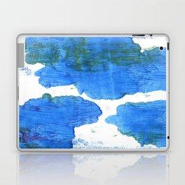 Bleu de France abstract watercolor Laptop & iPad Skin