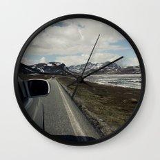 Roadtrip in norway Wall Clock