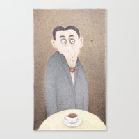 kafka Canvas Prints featuring Cafe Kafka  by Steve Bonello