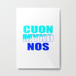 CUON MYKONOS Metal Print