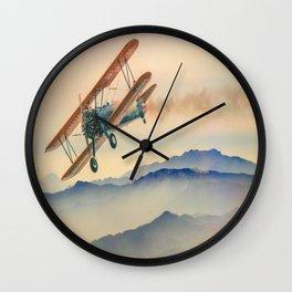 aircraft double decker oldtimer Wall Clock