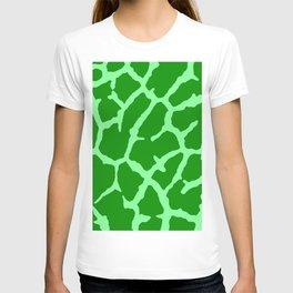 Green Giraffe Print T-shirt