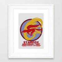 starfox Framed Art Prints featuring Mercenary Unit - Starfox by TomStreetArt