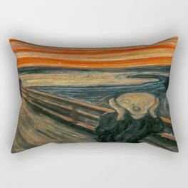 The Scream by Edvard Munch, circa 1893 Rectangular Pillow