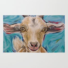 Goat Art, 'Buttercup' Goat Painting Rug