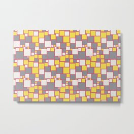 Funky Mosaic Pattern V3 Pantone 2021 Colors of the Year and Accent Hues Metal Print