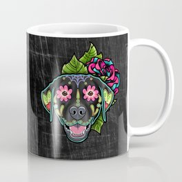 Labrador Retriever - Black Lab - Day of the Dead Sugar Skull Dog Coffee Mug