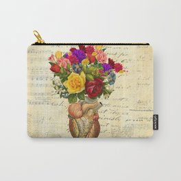 Heart Full of Flowers Carry-All Pouch