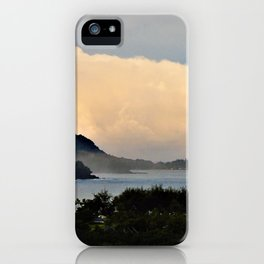 Misty Hanalei Dreaming in Kauai by Reay of Light Photography iPhone Case