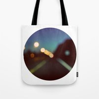 drive Tote Bags featuring Drive by elle moss