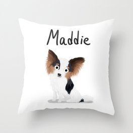 "Custom Artwork, ""Maddie"" Throw Pillow"