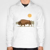 bison Hoodies featuring Bison by Emre Özbay