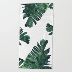Banana Leaf Watercolor #society6 #buy #decor Beach Towel