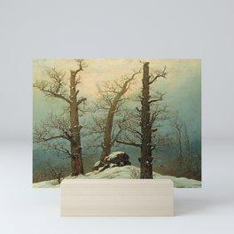 Caspar David Friedrich - Dolmen in Snow - Cairn in Snow - Hünengrab im Schnee Mini Art Print