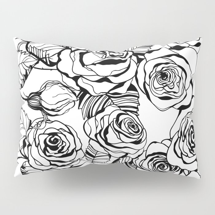 Hand Drawn Roses Pattern Pillow Sham By Katerinamitkova Society6