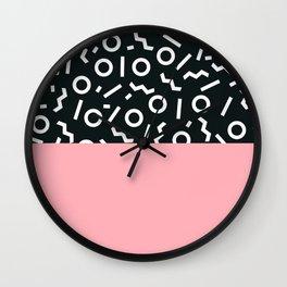 Memphis pattern 50 Wall Clock