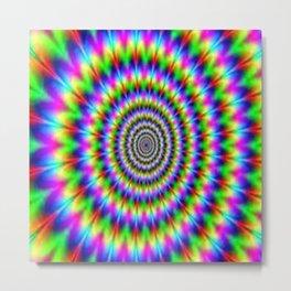 Optical illusion Metal Print