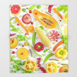 Fruits and vegetables pattern (12) Throw Blanket