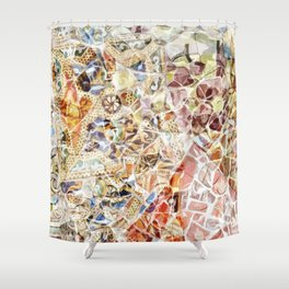 Mosaic of Barcelona IV Shower Curtain
